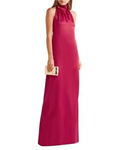 Image is loading NWT-595-Rachel-Zoe-Darby-Berry-Red-Satin-