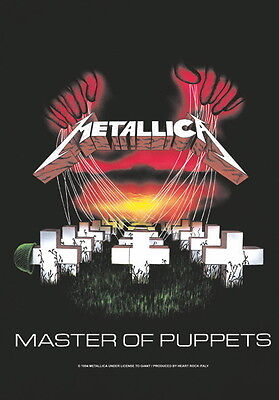"""METALLICA FLAGGE / FAHNE """"MASTER OF PUPPETS"""" POSTER FLAG POSTERFLAGGE"""