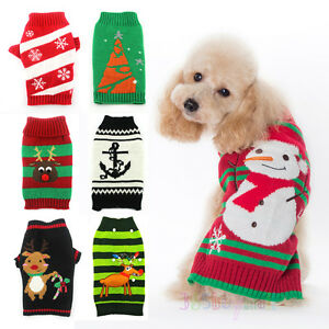 image is loading christmas holiday ugly dog sweater reindeer snowman new - Ugly Christmas Dog Sweater