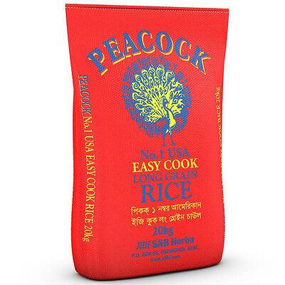American Long Grain Rice Bulk Easy Cook Peacock 20kg Catering Size