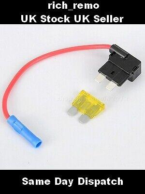 + 5amp FUSE Add A Circuit Piggy Back Fuse Tap STANDARD Blade Holder ATM 12V