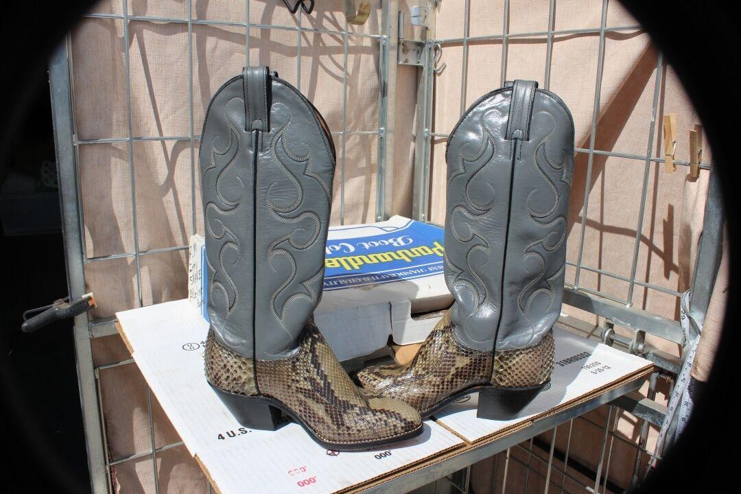 27-41 nuevas botas de Abilene Para Mujer 7m Piel De Serpiente botas