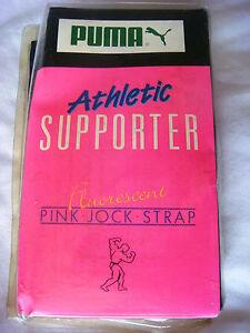 Details about Vintage Original Puma Jockstrap Fluorescent Pink 80's
