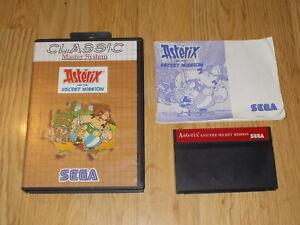 Asterix And The Secret Mission - Classic - Sega Master System - Cib - Pal Dessins Attrayants;