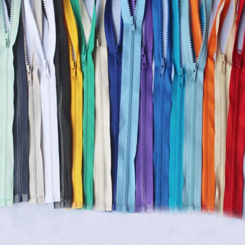 55-75cm Craft Clothes Slider Teeth Zipper Separating Zips Open End Pull Tan DIY