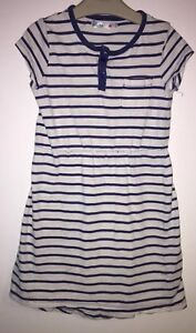 Dresses Girls Age 6-7 Years M&co Striped Dress Moderater Preis Clothes, Shoes & Accessories