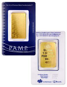 PAMP-Suisse-1-oz-Gold-Bar-Plain-Design-Sealed-w-Assay-Cert-SKU32617