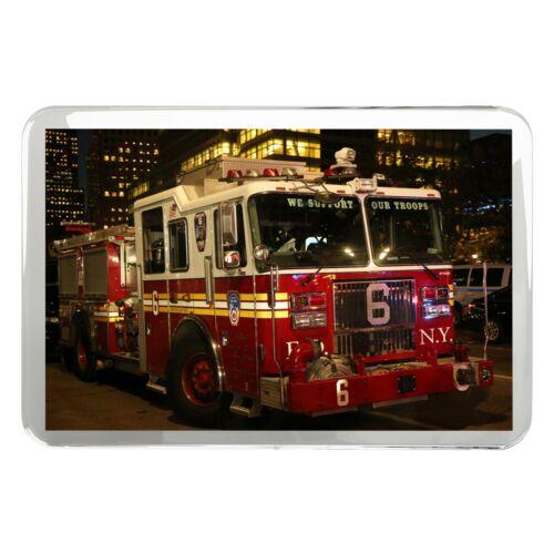 Red Truck Emergency Fun Gift #14548 New York Fire Engine Classic Fridge Magnet