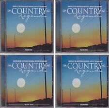 COUNTRY LEGENDS Volume 1 2 3 & 4 Various Artists CD Lot 72 Classic Songs Oldies
