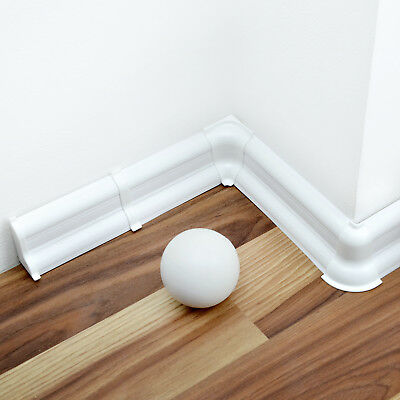Bodenbeläge & Fliesen Honig 2,5m Fussleiste Sockelleisten Weiß Kunststoff Laminat Bodenleiste Kabelkanal Und Verdauung Hilft