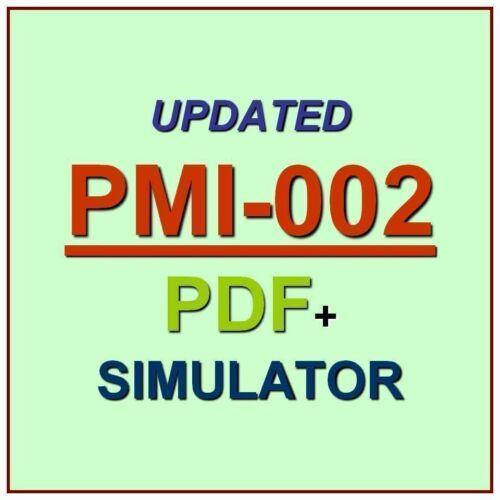 PMI Certified Associate in Project Management CAPM Test PMI-002 Exam QA PDF+SIM