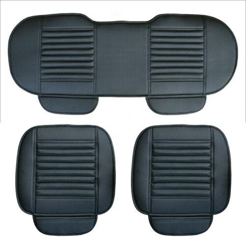 3pcs coche cobertor de asiento para fundas para asientos cojines de asiento asiento maletero PU Cuero bambú carbón Pad