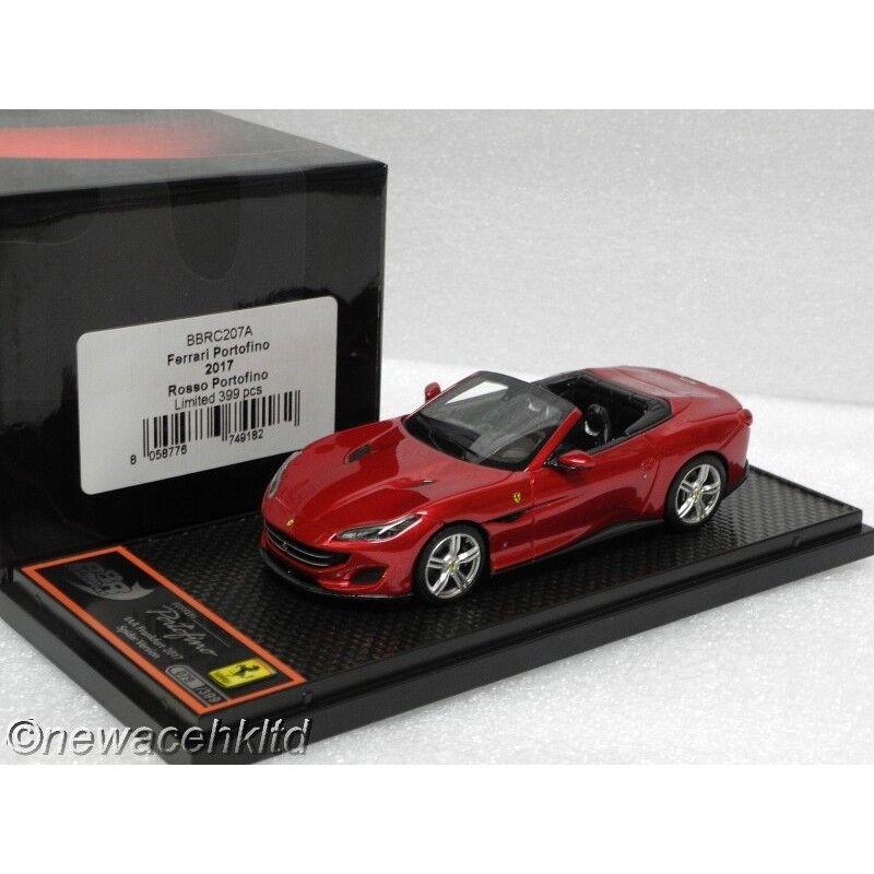 grandes ofertas Ferrari Portofino 2017 rojo Portofino limitada limitada limitada  399PCS BBR Models 1 43  BBRC 207A  gran descuento