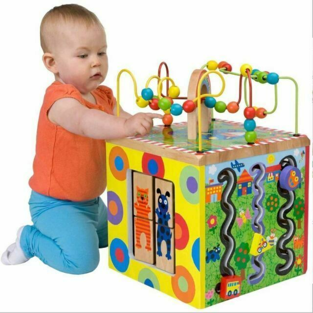 Wooden Baby Toys ACTIVITY CENTER ALEX Toys Alex Jr My Busy Town ACTIVITY CUBE