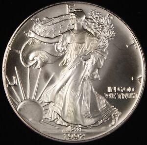 1992 American Silver Eagle Ase Bu In Deluxe Case Ebay