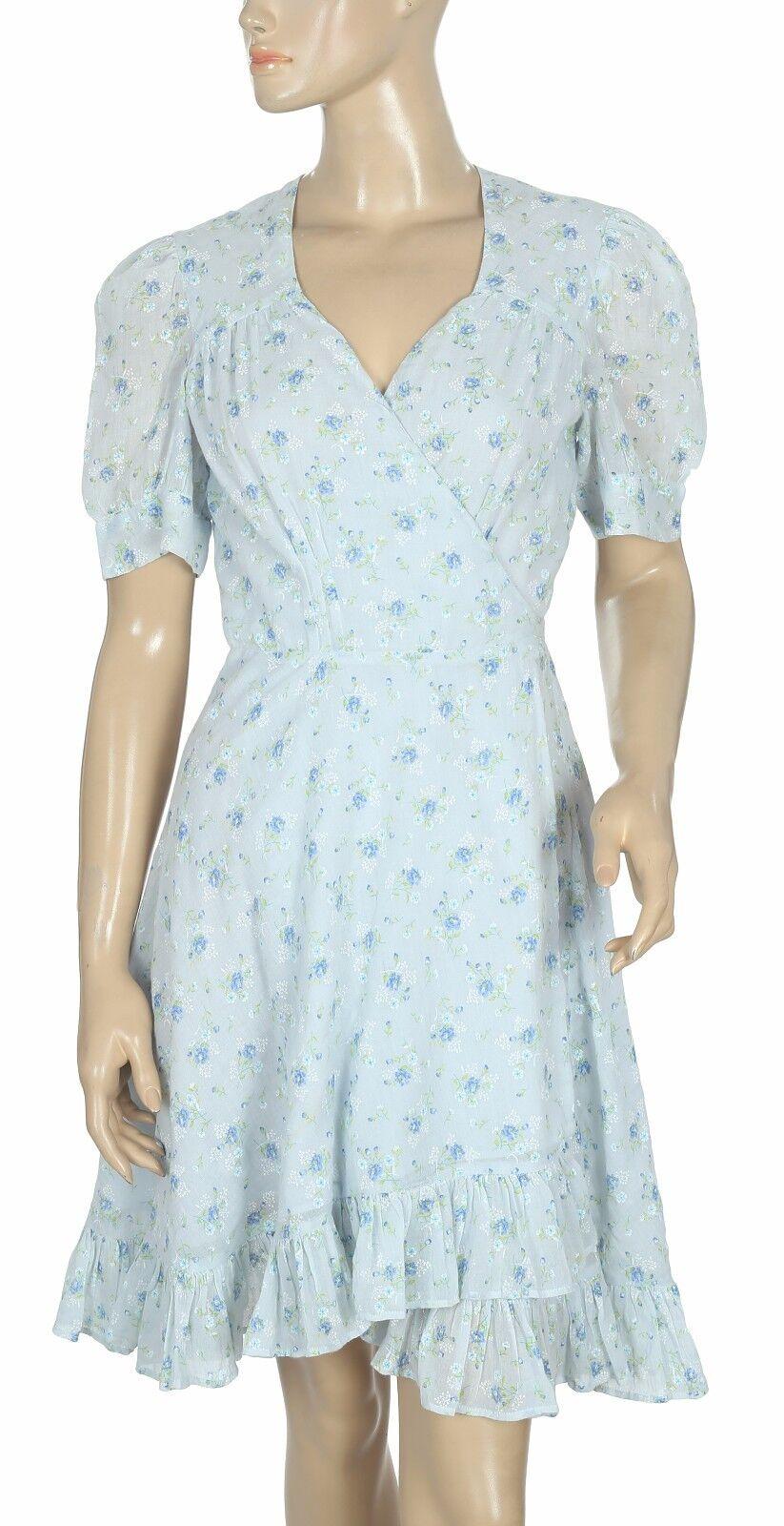 170289 New Denim & Supply Ralph Lauren Floral Printed Wrap Coverup Dress XS