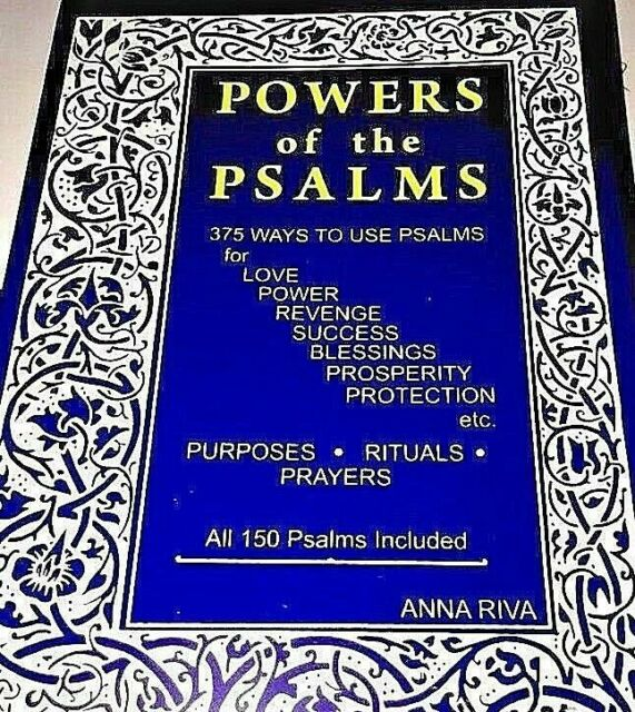 Powers of The Psalms by Anna Riva English (1982 Paperback) 1 3 6 12 PK 1  Book