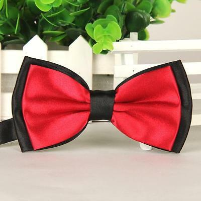 2016 Z2 Fashion Men Satin Adjustable Bowtie Tuxedo Wedding Bow Tie Necktie Z2