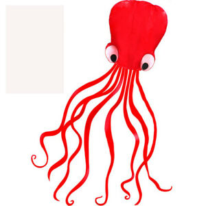 NEW-4m-single-Line-Stunt-RED-Octopus-POWER-Sport-Kite-Outdoor-Sports-Toys