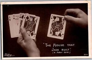 The-House-That-Jack-Built-Poker-Hand-Vintage-Postcard-N26