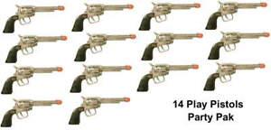 Wholesale-lot-of-14-Kids-Cowboy-Western-Pistols-great-party-pak
