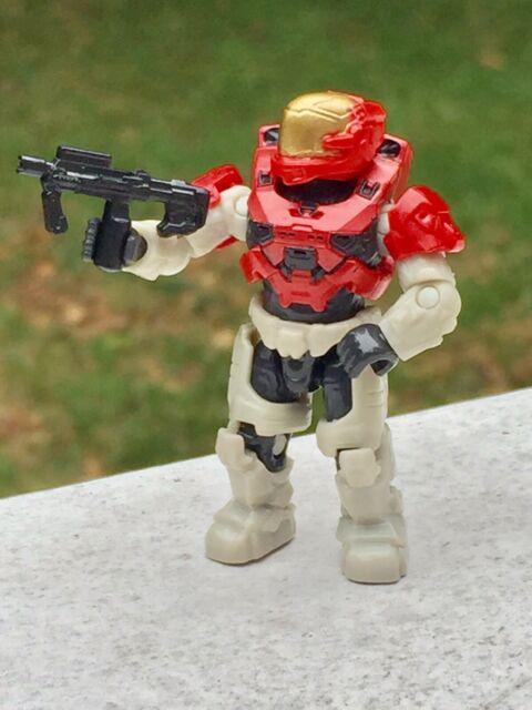 "FIGURE #1 FROM Mega Construx Halo Red Spartan Helmet ""Escape"" GYG57"