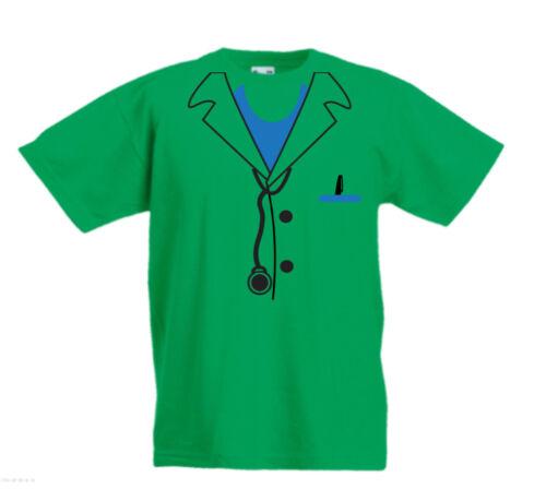 Doctor Tie uniforme Bambini Divertente di Halloween Fancy Dress Cool T-shirt Età 3-13 anni