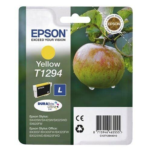Originale Epson T1294 Giallo Mela Stylus S22 SX125 SX420 SX425 W Office BX305 O.