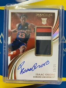 2020-21-PANINI-IMMACULATE-ISAAC-OKORO-RPA-ROOKIE-PATCH-AUTO-GOLD-RC-13-25