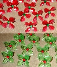 12 RARE Holly Poinsettia Light Bulbs for Ceramic Christmas Tree Red ...