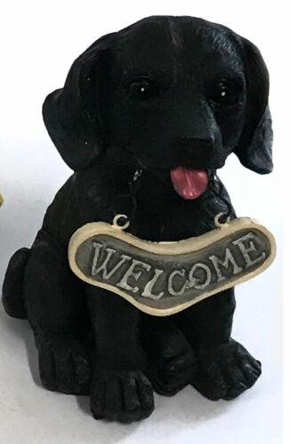 PUPPY ORNAMENT WELCOME SIGN Schnauzer Pug Black Labrador Beagle 28cm