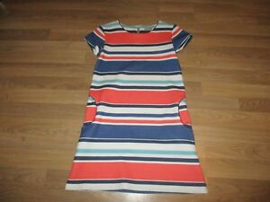 next-girls-orange-blue-white-stripped-dress-age-11-years