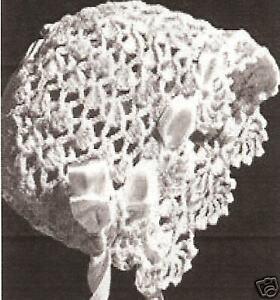 Vintage Antique Crochet Pattern To Make Baby Bonnet Cap