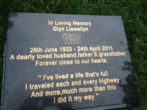 Large Granite Memorial Plaque 30x40x4cm