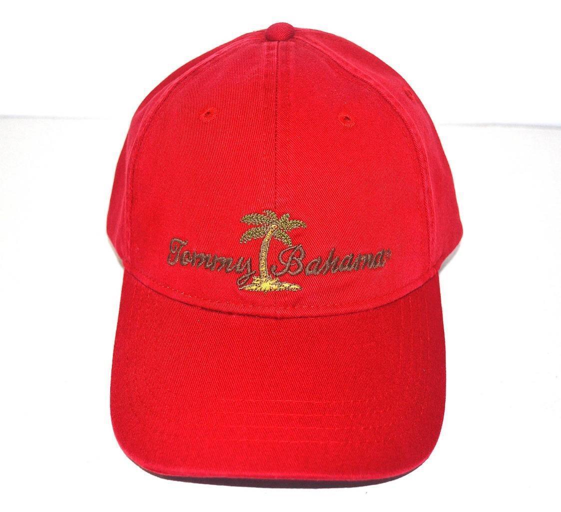 Tommy Bahama Red Palm Tree Island Baseball Baseball Baseball Cap Golf Fishing Sun Protect Hat New 295e39