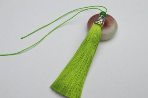 1,10 pcs 10cm Long tassel Metal Cap V13 use for earring bookmark runner dress