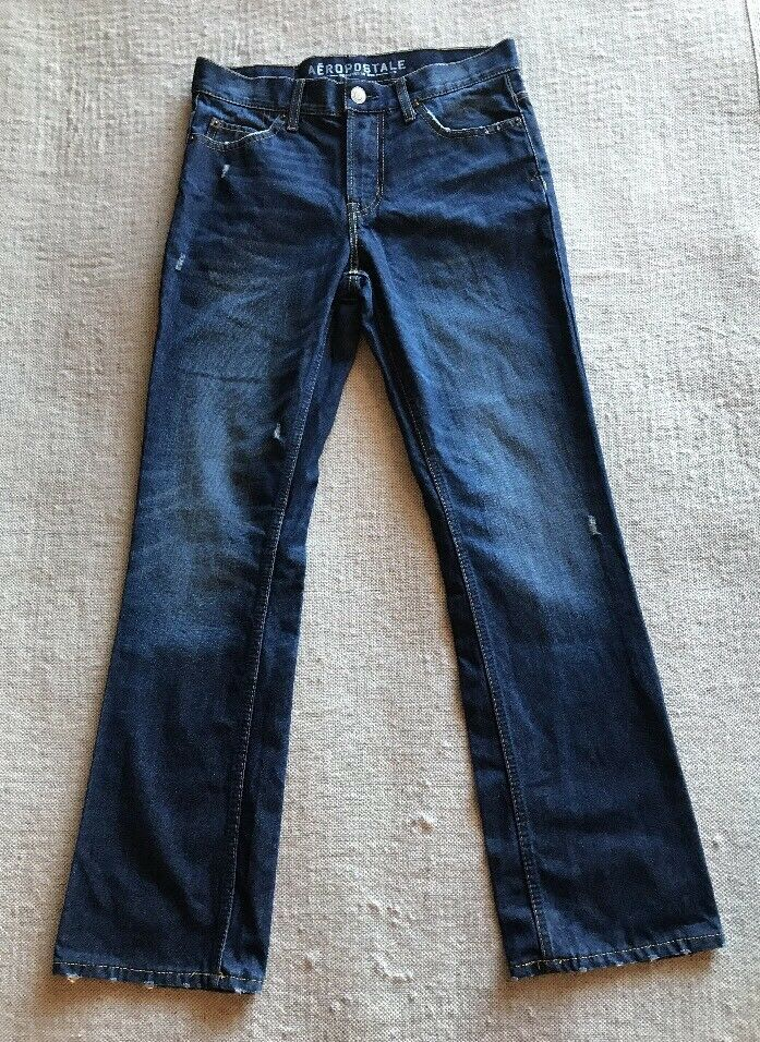 Aeropostale Men's Medium Wash Slim Boot bluee Denim Jeans Sz 28x30  A7