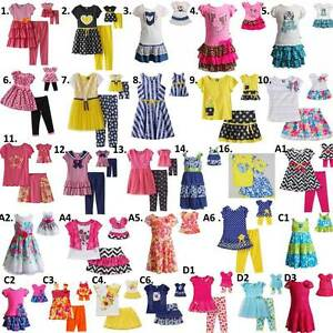 Dollie-and-Me-2T-14-amp-18-034-doll-matching-outfit-Dress-clothes-american-girl