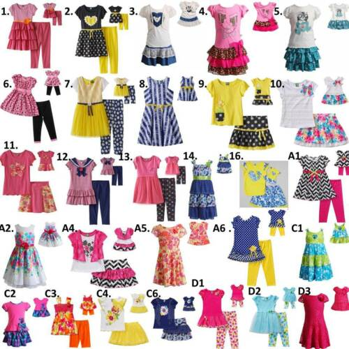 """Dollie and  Me  2T-14 /& 18/"""" doll matching outfit Dress clothes american girl"""