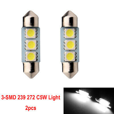 4X 239 272 C5W 4PC ERROR FREE FESTOON WHITE INTERIOR LIGHT BULBS SMD LED 6W CAR