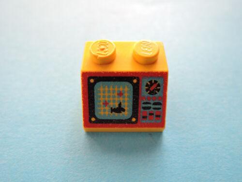 AquaZone 6175 6195 Lego 1 x planos inclinados piedra 3039pb019 amarillo 2x2 bedr