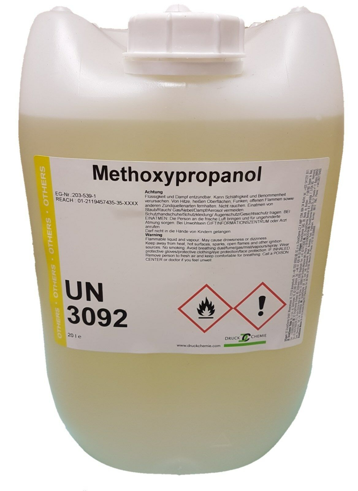 Methoxypropanol - 3x10 Liter kanister - 1-Methoxy-2-Propanol