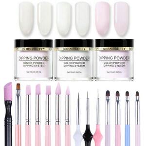 17Pcs-Set-BORN-PRETTY-Dip-System-Dipping-Powder-Nail-Art-Brushes-Pro-Starter-Kit