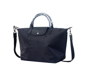0274681a136b Longchamp Le Pliage Large Neo Strap Black Nylon Tote Handbag Purse ...