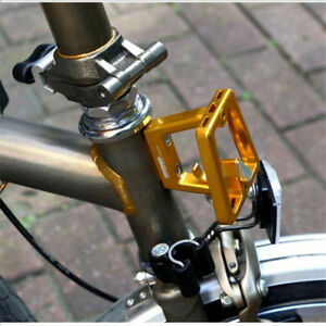 13719fca8 Image is loading ACE-Alloy-Bicycle-Front-Carrier-Block-For-Brompton-