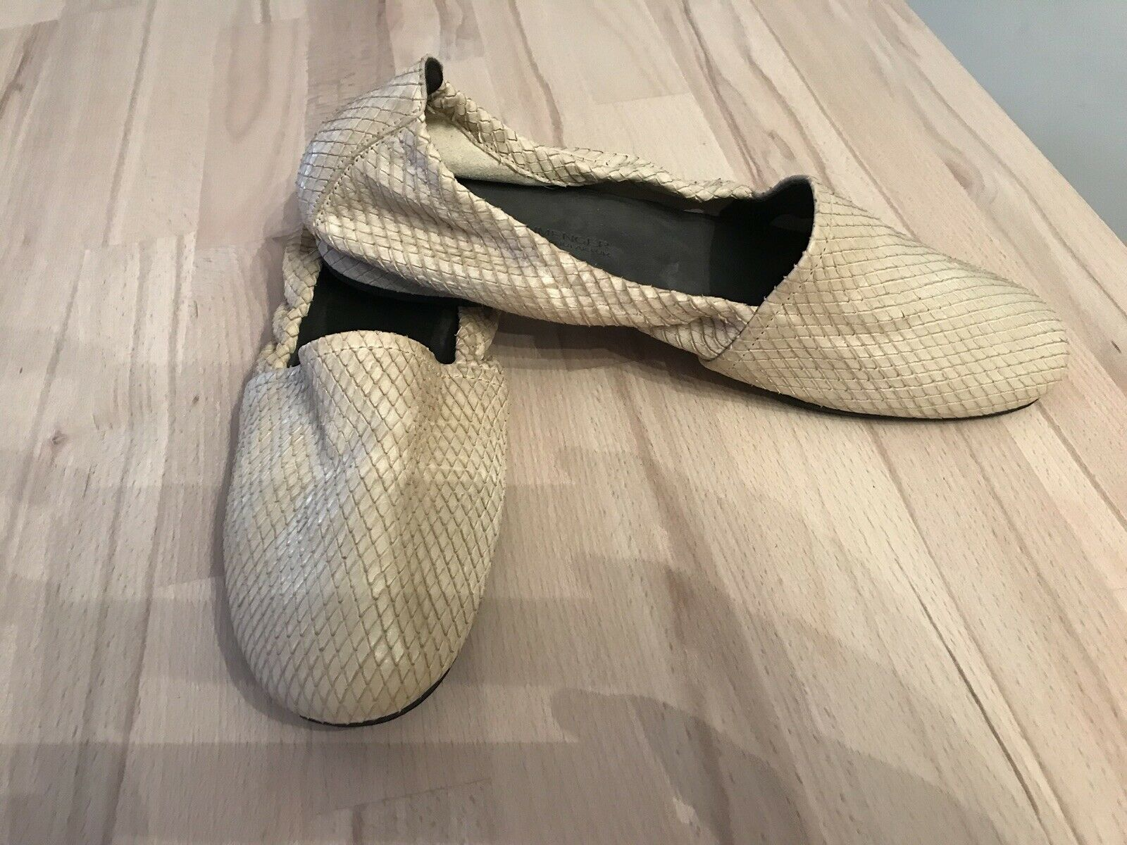 HISPANITAS Damen Slipper Ballerinas, Leder, weisssilber, Gr. 39