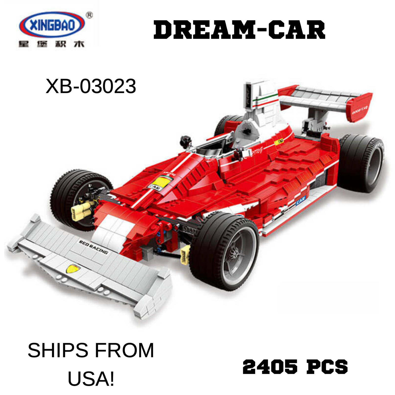 Xingbao Dream Car 2405pcs. XB-03023. Ships from USA