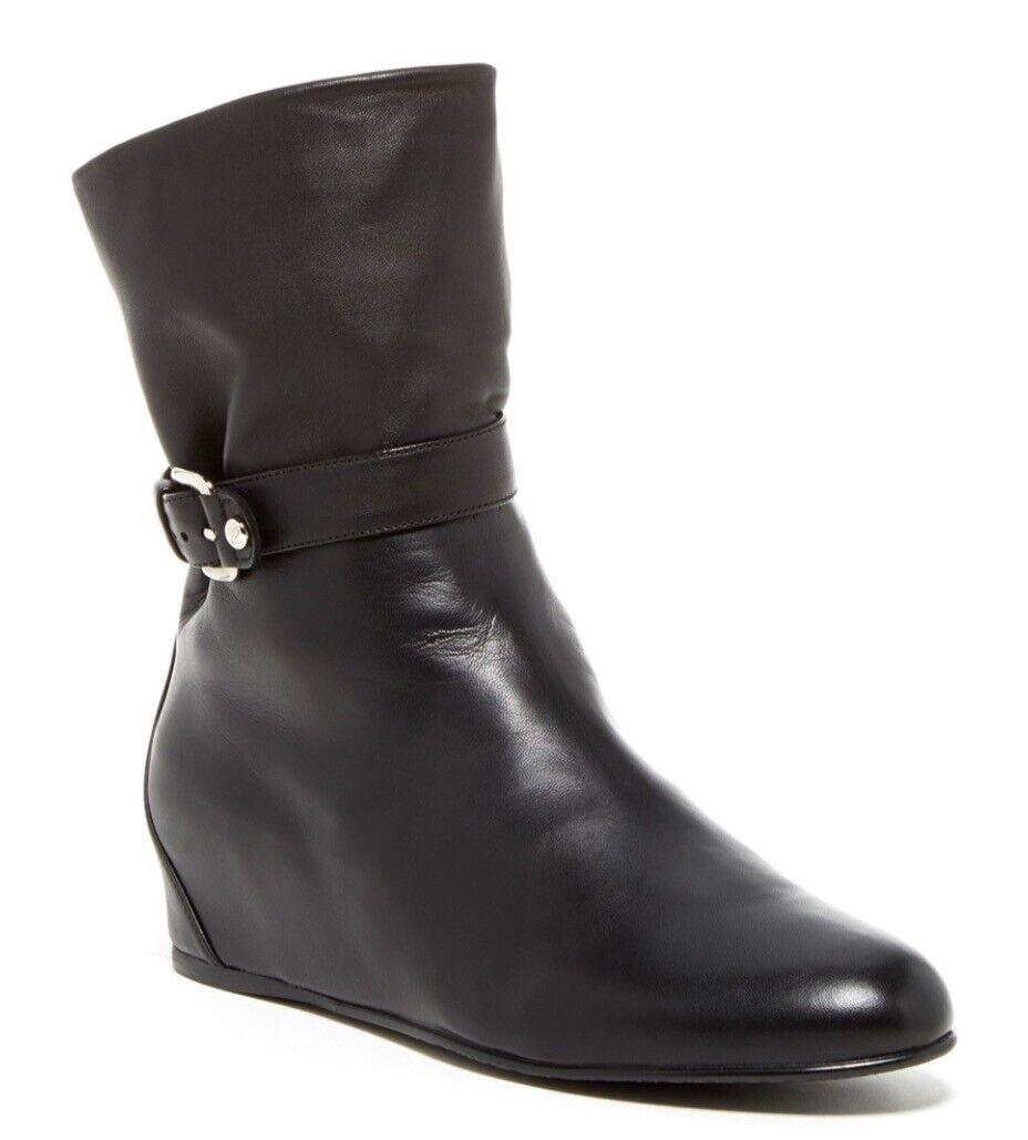 costo effettivo STUART WEITZMAN AUTH  450 donna Marrone Marrone Marrone Nappa Leather GatherHidden Wedge avvio 10.5  bellissimo