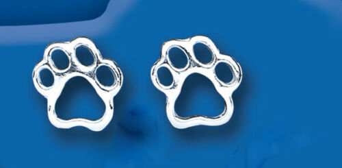Dog Paw Print Set Pendant and Drop Earrings Sterling Silver 925 Hallmark Boxed