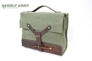 Vintage-Swiss-Army-Canvas-Leather-Bag-Ammo-Magazine-Tool-Bag-Tough-Military
